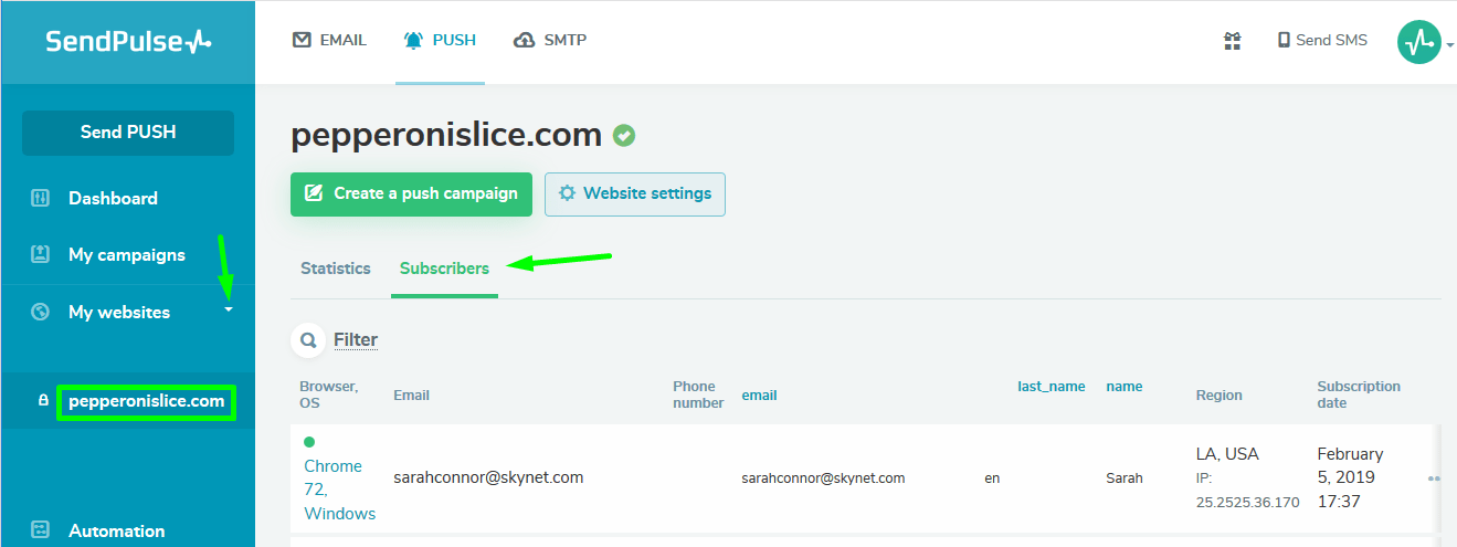 How to add push notifications to the website?   SendPulse
