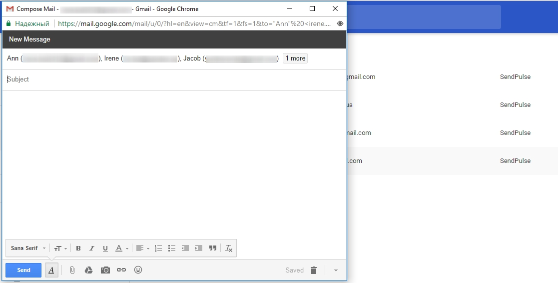 How to send bulk emails in Gmail?   SendPulse