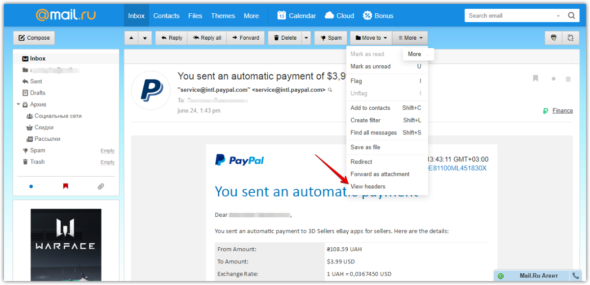 Spam Email Bot